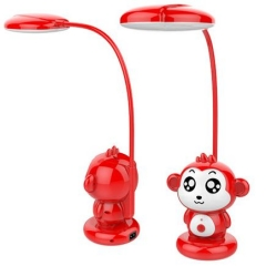 Long lifetime cartoon monkey shaped rechargeable led study table lamps for student